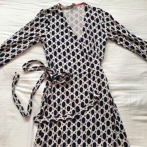 Boden Long sleeved Wrap Maxi Dress Size 6